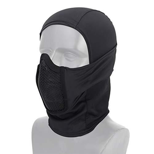 DETECH Tactical Gear - Máscara de malla transpirable para airsoft CS de cara completa para caza, ciclismo, capucha y calentador de cuello