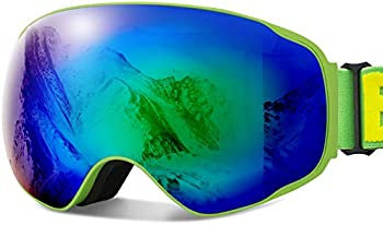 JOJO LEMON 100% UV Protection Anti Fog Unisex Ski Snowboard Goggles