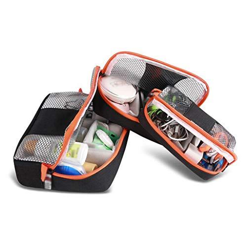 Trois pièces Sac cosmétique de Stockage étanche Grande capacité extérieure Multifonction Portable Simple Voyage Wash Wash Universal 4 Couleur MUMUJIN (Color : Black)