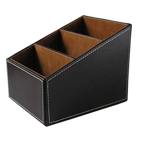 HomeDecTime Schreibtisch Stifthalter Schreibwaren Aufbewahrungsbox Tisch Organizer - Braun