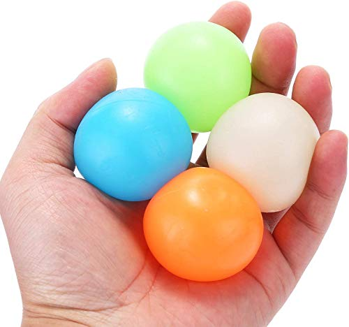 Globbles Sticky Balls That gets Stuck on The roof,Glow in The Dark Ceiling Sticky Balls,Sticky Wall Balls,Stress Balls Gifts for Kids and Adult Figit Toys,Sensory Toys for ADHD, OCD, Anxiety