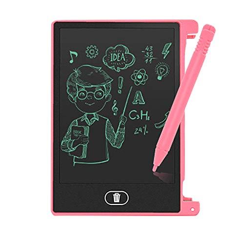 Bascar LCD Schreibtafel 4,4 Zoll LCD EWriter-papierloses Notizblock Tablett das Zeichnungs Grafikkarte Schreibt mit Anti-Clearance Funktion und Dicke Linien Digitale Schreibplatte Papierlos (Rosa)