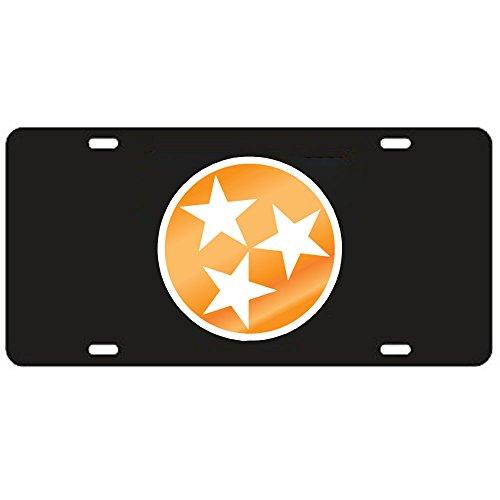 Craftique Tennessee Volunteers Black Tri-Star Laser Cut License Plate