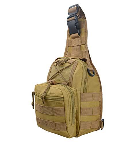 FLLH Une épaule Petit Sac Outdoor Sports Moto breastpack Pendaison téléphone Mobile Tactique épaule Sac Sac Camouflage