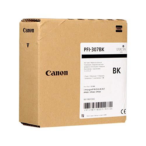 Canon PFI-307BK - Cartucho de Tinta (Negro, Canon, imagePROGRAF iPF830 imagePROGRAF iPF840 imagePROGRAF iPF850)