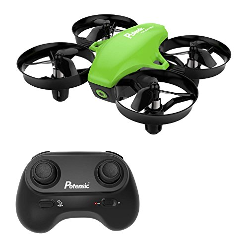 Mini Drone con Telecomando Quadricottero Funzioni Sospensione Altitudine Un Pulsante di Decollo Atterraggio modalità Senza Testa Adatto per Principianti Buon Regalo per Bambini Verde