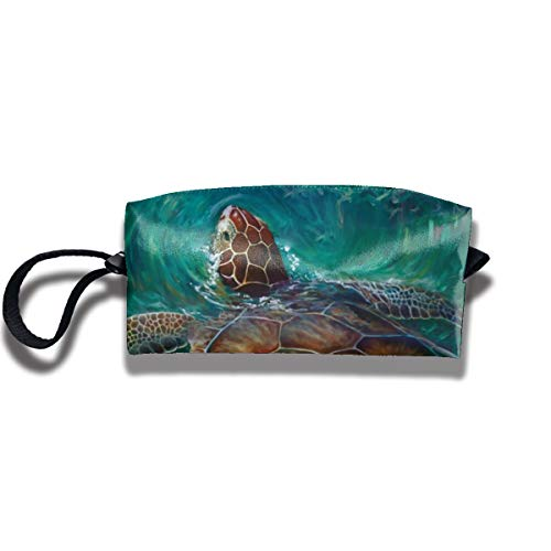 Kla Ju Cosmetic Bag Pencil Pouch,Sea Turtle Stationery Purse Storage Organizer Travel Holder