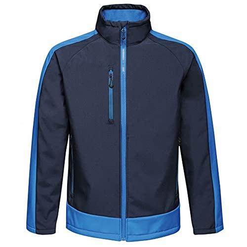 Regatta Veste Softshell Imprimable Imperméable et Membranée Contrast Soft Shell Homme Bleu (Navy/New Royal) FR: XL (Taille Fabricant: XL)