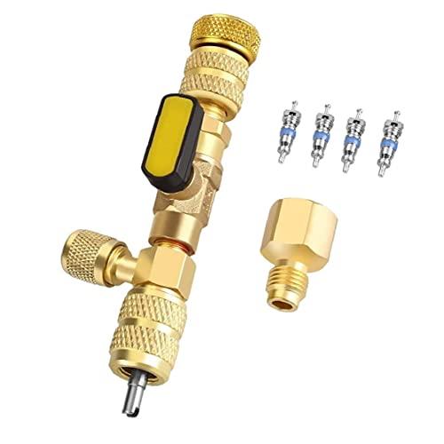 Herramienta de instalación del removedor de núcleo de la válvula, la válvula de la válvula del cambio de refrigerante Carga de la carga de la herramienta de descarga ampliamente del campo