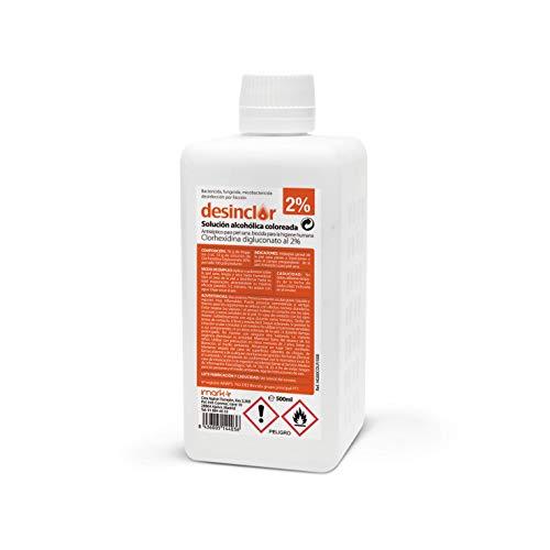 Desinclor Clorhexidina Alcoholica Coloreada 2% Antiseptico - 500 ml