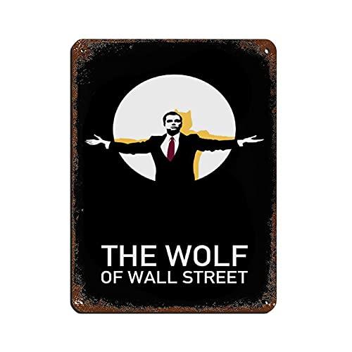 Cartel clásico de película retro The Wolf of Wall Street 23 Cartel vintage de metal para Pub Club Cafe bar Home Wall Art Decoración Póster Retro 30 x 40 cm