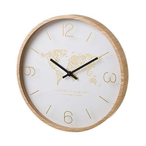 D'CASA - Reloj de Pared de Madera Beige nórdico para Cocina Vitta