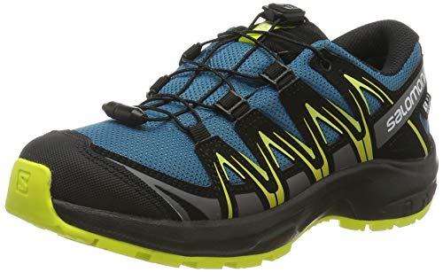 Salomon Kinder Sneaker, XA PRO 3D CSWP J, Farbe: Blau/Gelb (Lyons Blue/Black/Sulphur Spring), Größe: 34