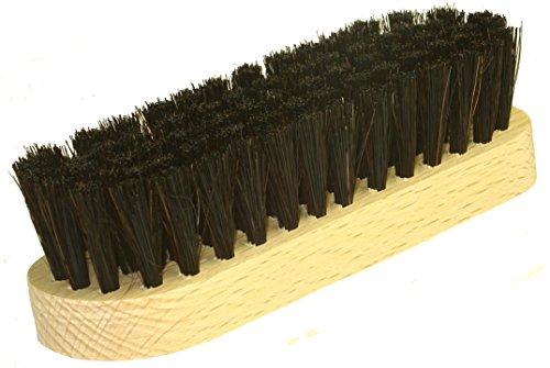 DELARA Hochwertige kleine Schuhbürste aus Naturborsten - Farbe: Schwarz