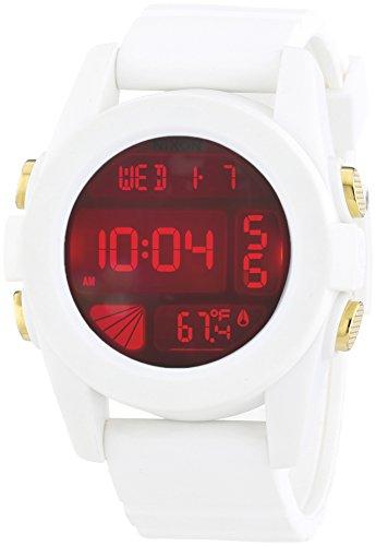 Nixon Herren-Armbanduhr XL Unit White Cosmos Digital Quarz Plastik A1971802-00