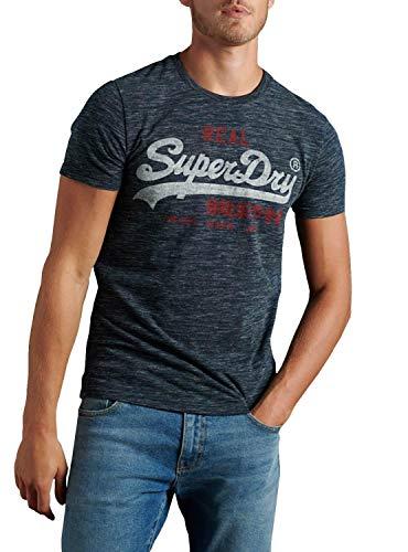Superdry VL Premium Goods Tee Chemise Casual, Bleu (Midnight Navy Space Dye 3dg), M Homme