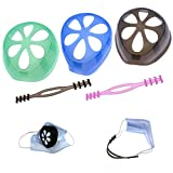 3 armazón de soporte interno para máscaras y 2 soportes de silicona para protección del lápiz labial...