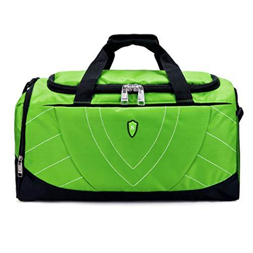 Travel Bag Large Capacity FeNylon Luggage Travel Travel Bags Canvas Travel Folding Trip Shoulder Bag, Green (Green) - TB190803