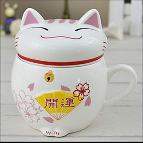 Uteruik 1 X Ceramic Fortune Cat Lucky Mug