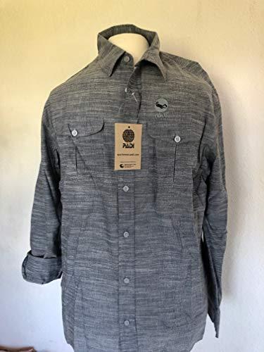 Padi - Camisa de manga larga de algodón con logotipo para buceador, divemaster e instrucciones – Lady – gris – Talla 38 / M