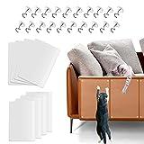 YISKY Protector Sofa Gatos Arañazo, 8 Pcs Protector Muebles Gatos, Fundas de Sofá Autoadhesivas Transparentes para Gatos con 20 Tornillos, Protector Rascador Antirrasguños para Muebles