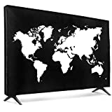 kwmobile Protezione 49-50' TV - Cover Proteggi-Schermo PC e TV 49-50' TV - Custodia Protettiva Anti-Polvere - bianco/nero