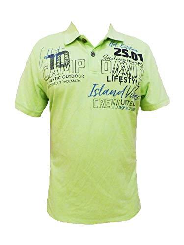 Camp David Polo Shirt 10 Mega Jahre neon Green CCU-2000-3547 (XL)