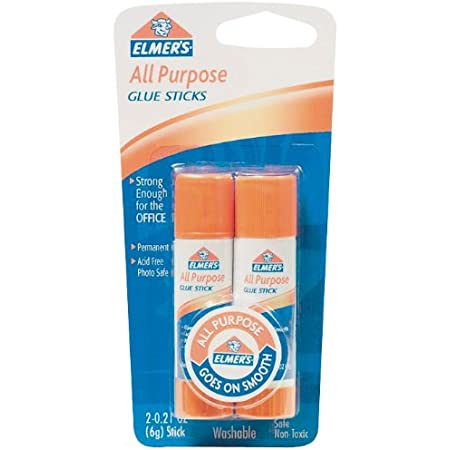 Elmer's All-Purpose Glue Sticks, 0.21 Ounces Each, 2 Sticks per Pack White (E512)