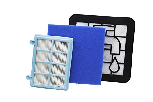 Green Label Kit de Filtres de Rechange pour les Aspirateurs Philips PowerPro Expert (Alternative à FC8010 01)