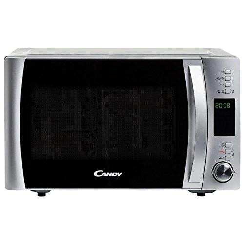 Candy CMXW30DS Micro-ondes Electronique 30L Silver - 900 W - Plateau tournant 31,5 cm - Silver - Facile d'utilisation - 10 menus automatiques - Fonction silence