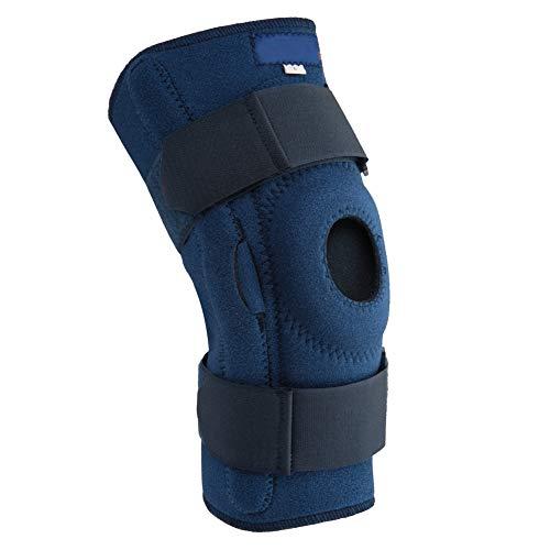 Greeflu Kniebandage, einstellbare Kniestütze atmungsaktiv Sport-Knieschützer Schockabsorbierende Schienbeinschützer Wandern(XL)