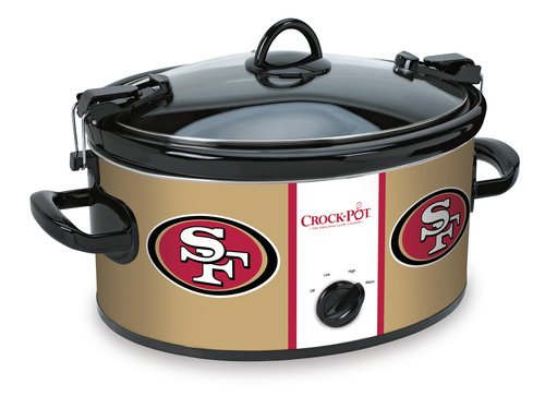 Crockpot SCCPNFL600-SF Crock-Pot San Francisco 49'Ers Cook & Carry Slow Cooker, Red
