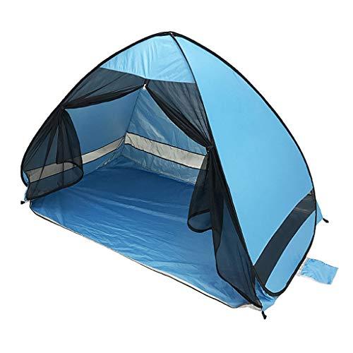 Strandmuschel, Tragbar Light Faltbares Strandzelt, Automatisches Pop-Up-Schnell öffnen Zelt Anti-UV Zelt Outdoor Strand Camping Angeln Wanderschatten Shelter Zelt für 2-3 Personen Schattenzelt (a)