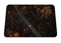 26cmx21cm マウスパッド (木の上から自動道路ビュー) パターンカスタムの マウスパッド