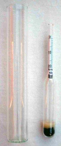 Mini-Bierwürze-Spindel mit Meßzylinder aus Glas zur Messung des Stammwürze-Gehaltes bei der Bierherstellung für Hobby-Bierbrauer