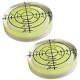 Zonster 2 Unids 32 * 7 Mm Precisión Nivel De Burbuja Nivel De Grado Superficie Redondo Kit Circular Circular Circular Herramienta De Medición Azul Verde