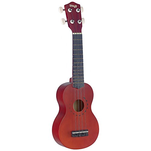 Stagg US10TATTOO - Ukelele soprano (3 cuerdas), color marró