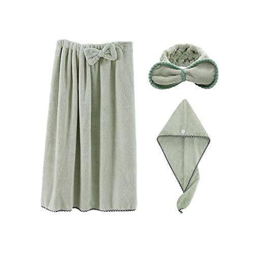 Crystallly Vone Katoenen Adult Soft Water absorptie, mooie badkamer rok badhanddoek eenvoudige stijl Ms 3-delige set (kleur: A) Home Dagelijks zachte warme absorberende handdoeken