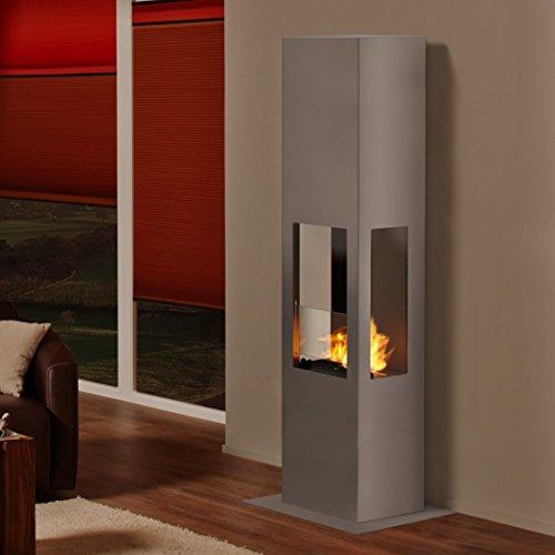 Muenkel ontwerp Prism Fire L [bio-ethanol haard 3-zijdig zicht]: roestvrij staal, mat