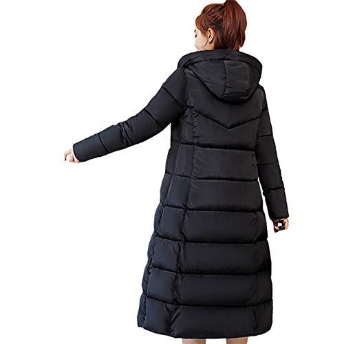 RHSMW Chaqueta de plumón para mujer, suelta, informal, de algodón, hasta la rodilla, cálida, para invierno, para viajes diarios, XXL