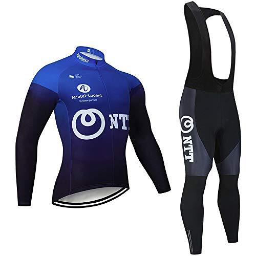 Ropa de Ciclismo Hombre Traje de Bicicleta Conjunto de Respirable Ropa MTB + Pantalones para Montar en Bicicleta Conjunto Secado Rápido