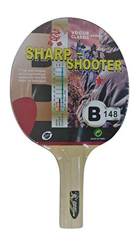 Pala de Ping Pong Kounga GD Sharp Shooter - 1 Estrella, Unisex Adulto, Rojo/Negro, Talla Única