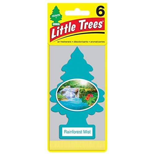 リトルツリー エアフレッシュナー 6pac【Rainforest Mist】 お得な6枚セット!LittleTree 芳香剤 レインフォレストミスト6枚組 [並行輸入品]