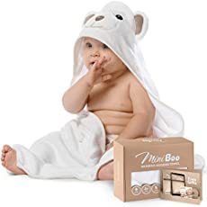 Premium Ultra Soft Organic Bamboo Baby Hooded Towel with Unique Design – Hypoallergenic Baby Towels for Infant and Toddler – Suitable as Baby Gifts