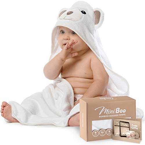 Premium Ultra Soft Organic Bamboo Baby Hooded Towel with Unique Design
