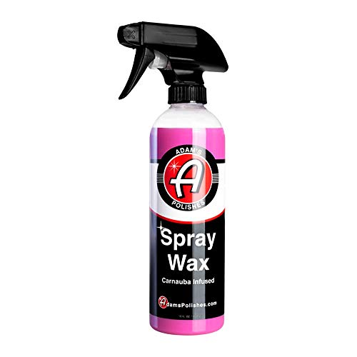 Adam's Spray Wax 16oz - Premium Infused Carnauba Car Wax Spray for Shine, Polish & Top Coat Paint...