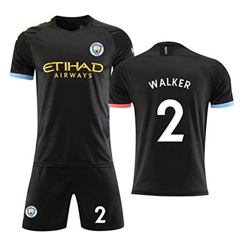 FNBA-Klub 2019-2020 Saison Heim # 2 Walker # 7 Sterling # 10 KUN Aguero # 17 DE Bruyne Hazard Herren-Fußballtrikot-J-L