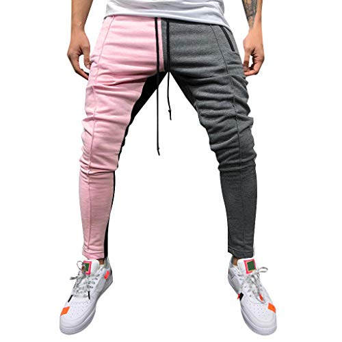 Overdose Pantalones De Hombre Pantalones De Chándal De Color De Retazos Sueltos Lisos Ocasionales Pantalones Pantalón De Chándal Pantalones De Moda Pantalones Vaqueros