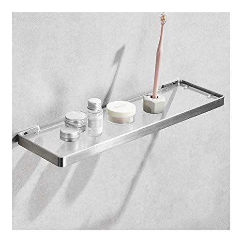 Rek handdoekhouder bad glas muur 304 roestvrij staal rack voor keuken kruiden shampoo netjes robuust duurzaam 25~55 cm (grootte: 45 cm) 35 cm.