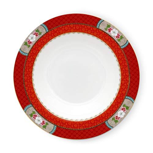PiP Studio Soup Plate Blushing Birds Red 21,5 cm